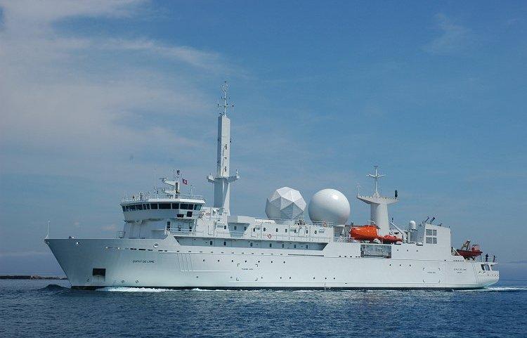 Hồi giữa tuần, một quan chức của NATO cho biết, tàu trinh sát Dupuy de Lome và tàu khu trục Dupleix của Pháp sẽ đến Biển Đen vào tuần tới. Ngoài ra, một chiến hạm khác của Pháp là Alize cũng đã có mặt tại Biển Đen từ cuối tháng trước. (Trong ảnh: Tàu trinh sát Dupuy de Lome)