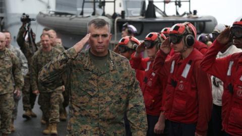 Trung tướng John Wissler, chỉ huy lực lượng Thủy quân lục chiến Mỹ ở Nhật Bản