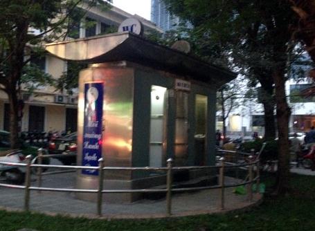 Nhà vệ sinh bằng thép được xây dựng ở Hà Nội