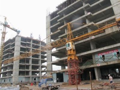 Khu căn hộ CT Number One Vân Canh đã xây dựng đến tầng 10