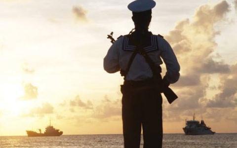 Chiến sĩ hải quân Việt Nam tại quần đảo Trường Sa.
