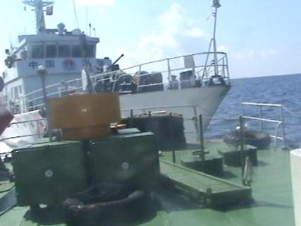 Tàu Trung Quốc chủ động đâm húc tàu Việt Nam.