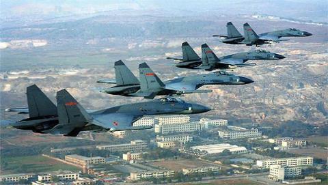Máy bay chiến đấu J-11 của không quân Trung Quốc