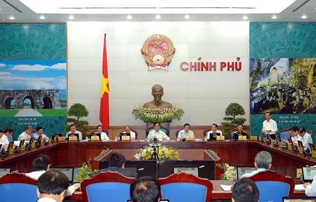 Thủ tướng Nguyễn Tấn Dũng chủ trì phiên họp Chính phủ thường kỳ tháng 5/2014.