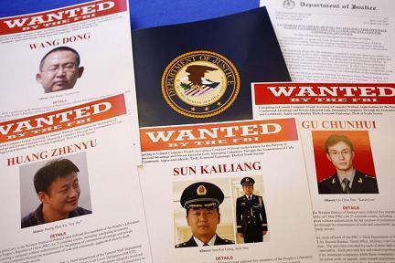 5 sĩ quan quân đội Trung Quốc bị cáo buộc tấn công mạng và đánh cắp bí mật thương mại của các công ty lớn của Mỹ.