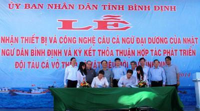 Lễ ký kết hợp đồng tàu cá vỏ thép giữa SBIC và UBND tỉnh Bình Định