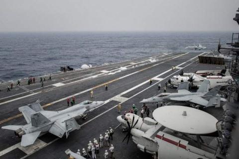 Tàu USS George vWashington ngoài khơi Hong Kong hôm 15/6