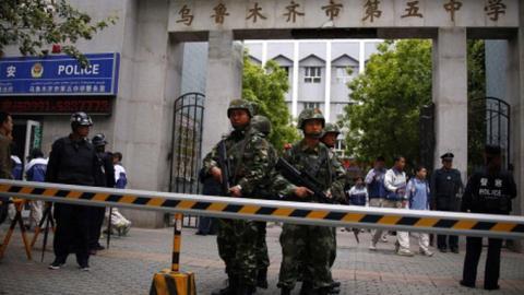 Trung Quốc ra sức chống khủng bố ở Tân Cương.