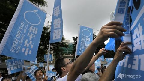 """Người Hồng Kông xuống đường trong phong trào """"Chiếm giữ Trung tâm"""""""
