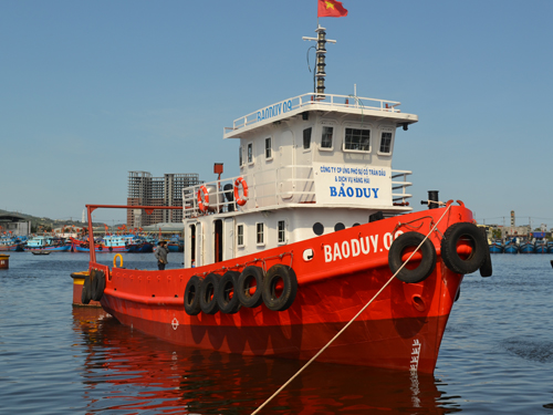 Tàu Bảo Duy 09 được hoàn thiện chỉ trong vòng 6 tháng với tổng mức đầu tư hơn 5 tỉ đồng, ông Trần Công Vinh, Tổng giám đốc Công ty Bảo Duy cho biết.
