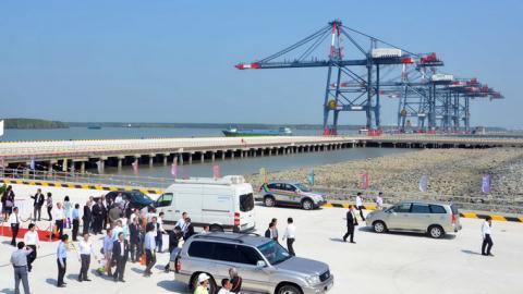 Cảng quốc tế Cái Mép - Thị Vải (huyện Tân Thành, tỉnh Bà Rịa - Vũng Tàu) - một dự án đầu tư bằng nguồn vốn vay JICA