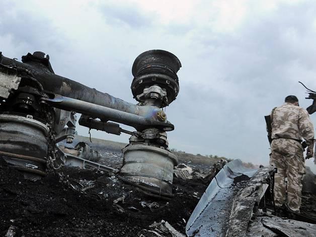 Một phần những mảnh vỡ của MH17 tại miền Đông Ukraine