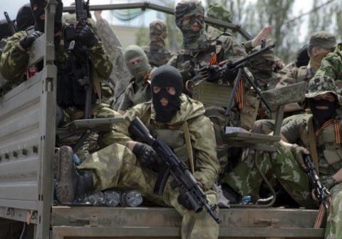 Lực lượng ly khai tại thành phố Donetsk, Ukraine.