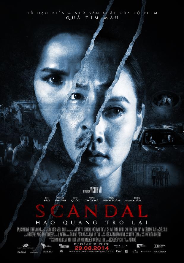 Poster đầy ma mị của Scandal 'Hào quang trở lại'.