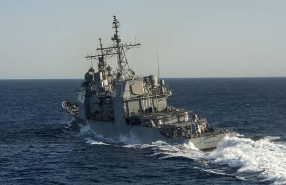 Ảnh trong bài báo với chú thích đơn giản: Hải quân Mỹ