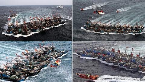 """""""Trung Quốc sẽ tập trung 300-500 tàu cá dưới sự hỗ trợ của 1 biên đội hàng không mẫu hạm ngư nghiệp"""""""