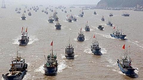 Trung Quốc đã xua gần hơn 4 vạn tàu cá xuống biển Đông (Ảnh minh họa)