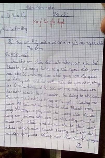 Bài văn khiến cho giáo viên và phụ huynh ngã ngửa