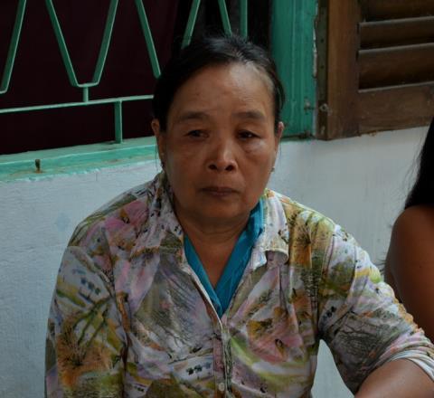 Bà Triệu Thị Xuyên, mẹ của nạn nhân kể lại sự việc