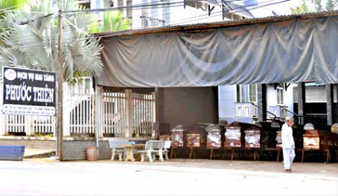 Trại hòm Phước Thiện, khu Cầu Xéo, thị trấn Long Thành.