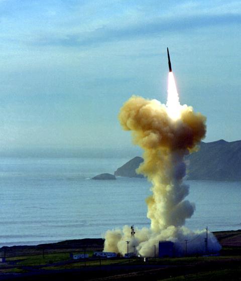 Một cuộc phóng thử nghiệm tên lửa Minuteman-3