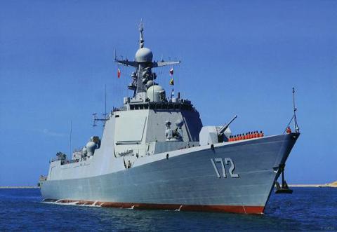 Tàu khu trục tên lửa Type 052D 172 Côn Minh của Trung Quốc
