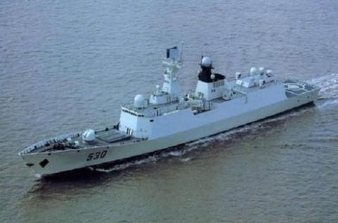 """Tàu hộ vệ tên lửa Type 054A số hiệu 530 """"Từ Châu"""""""