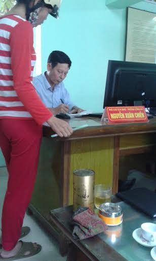 Trưởng CA xã Nam Sơn, ông Nguyễn Xuân Chiến