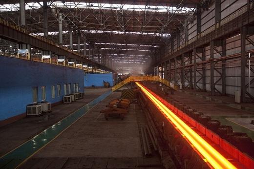 Một nhà máy thép tại Tangshan, tỉnh Hà Bắc, Trung Quốc.