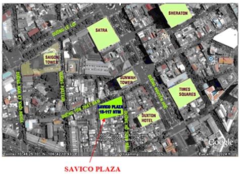 Vị trí dự án Savico Plaza