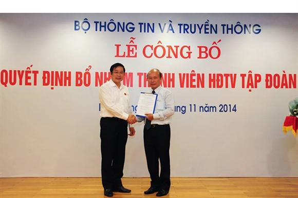 Bộ trưởng Nguyễn Bắc Son trao quyết định bổ nhiệm cho ông Nguyễn Mạnh Thắng