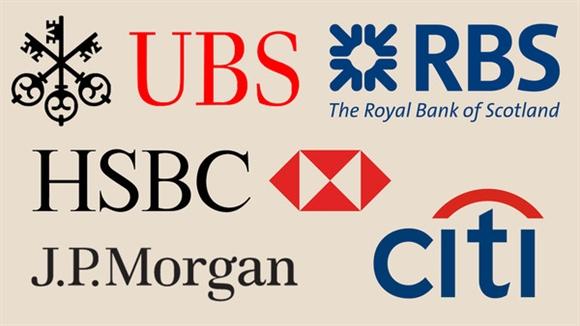 Danh sách 5 ngân hàng phải nộp phạt (Nguồn: Financial Times)