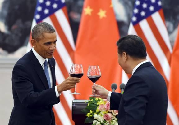 Ông Tập Cận Bình và ông Obama tại Bắc Kinh hôm 12/11