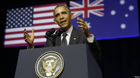 Ông Obama phát biểu tại Đại học Queensland hôm 15/11