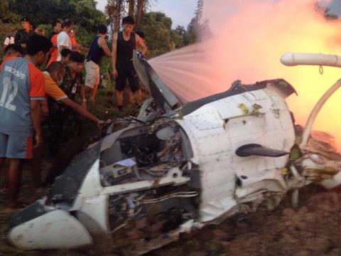 Trực thăng quân đội Thái Lan gặp nạn