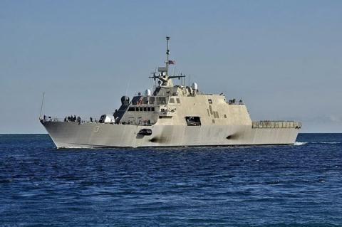 Chiến hạm USS Fort Worth của Hải quân Mỹ.