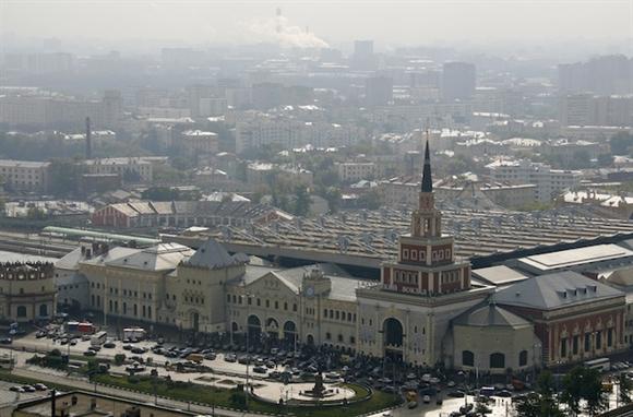 Nhà ga Kazansky, Moscow - điểm khởi đầu cho tuyến đường sắt cao tốc Moscow-Bắc Kinh.