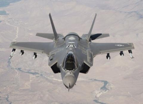 Máy bay chiến đấu tàng hình F-35 do Mỹ chế tạo.