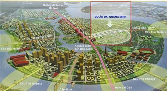 Vị trí dự án của Đại Quang Minh