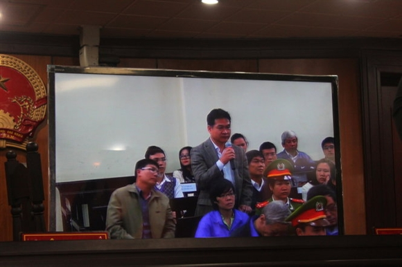 Ông Trần Tuấn Dương, Tổng giám đốc tập đoàn Hòa Phát tại tòa chiều 2-12 - ẢnhTL chụp màn hình