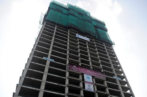 Dự án siêu sang trên đường Nguyễn Văn Huyên của Tân Hoàng Minh chưa bán căn hộ nào cho khách hàng. Ảnh: Anh Quân