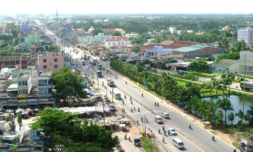 Các dự án khu dân cư dọc theo trục Quốc lộ 1A đổ về Sài Gòn, cách TPHCM khoảng 30 km đang đua nhau bung hàng