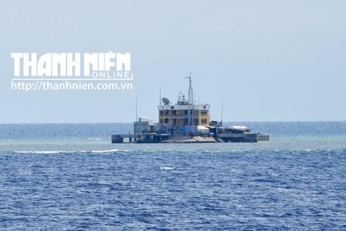 Đảo chìm Cô Lin của Việt Nam rất nhỏ, so với căn cứ Trung Quốc đang xây dựng trái phép trên đảo Gạc Ma