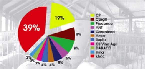 Thị phần thức ăn chăn nuôi của các doanh nghiệp tại VN hiện nay