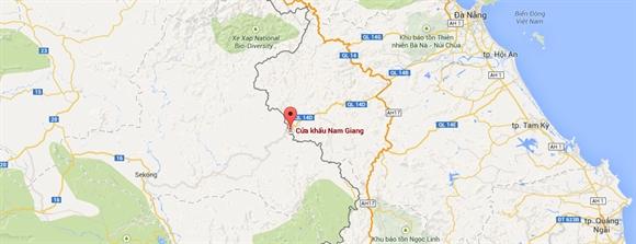 Vị trí Cửa khẩu Nam Giang