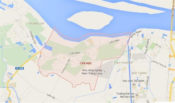 Khu vực phường Liên Mạc, quận Bắc Từ Liêm, Hà Nội