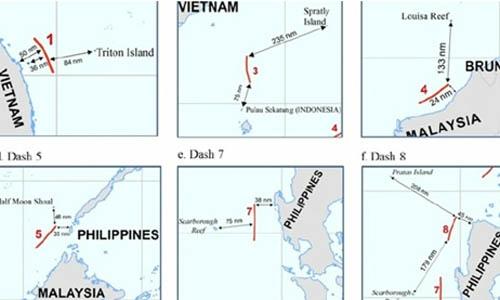 Mỹ khẳng định một số phần trong đường 9 đoạn của Trung Quốc xâm phạm chủ quyền Việt Nam và các nước liên quan. Ảnh: Rappler