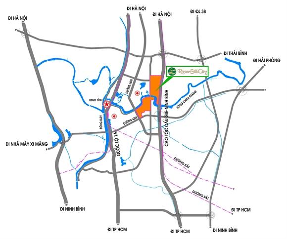 Vị trí Khu đô thị River Silk City. Nguồn: CEO Group