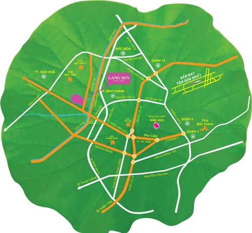 Vị trí thuận lợi kết nối giao thông của Làng Sen Việt Nam