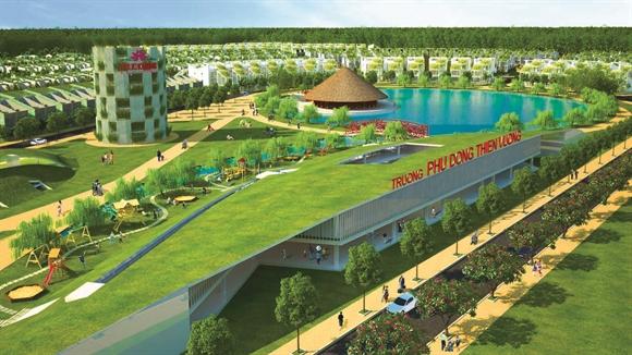 Hồ Tịnh Đế Liên, trung tâm hội nghị Tre Việt và trường Phù Đồng Thiên Vương